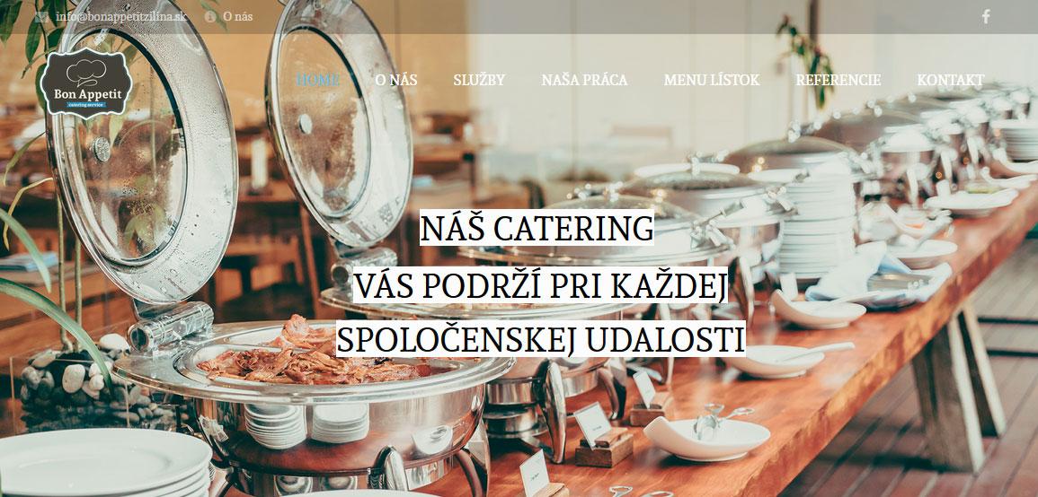 Tvorba web stránky pre Bon Appetit v Žiline