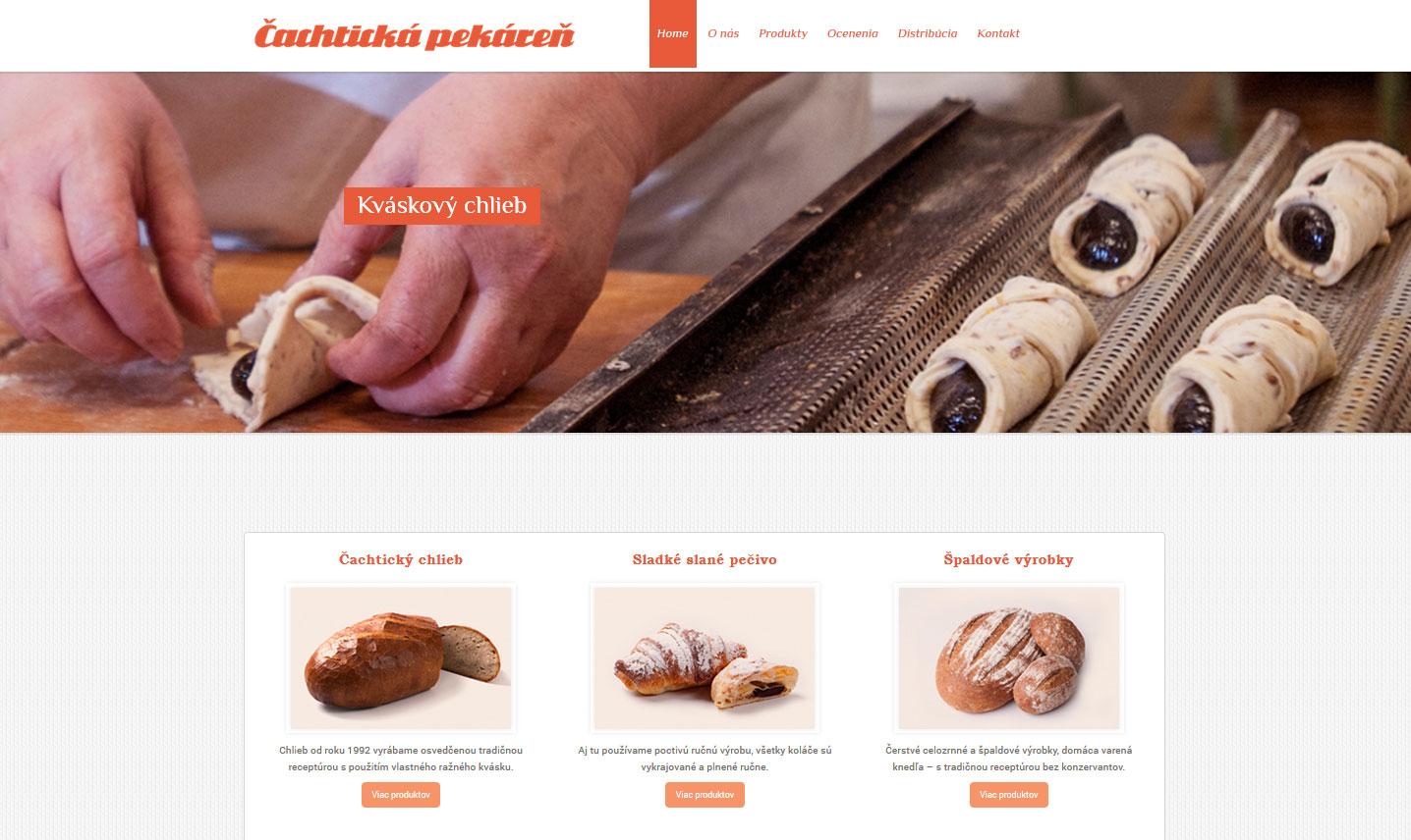 Tvorba web stránky pre obľúbenú Čachtickú pekáreň