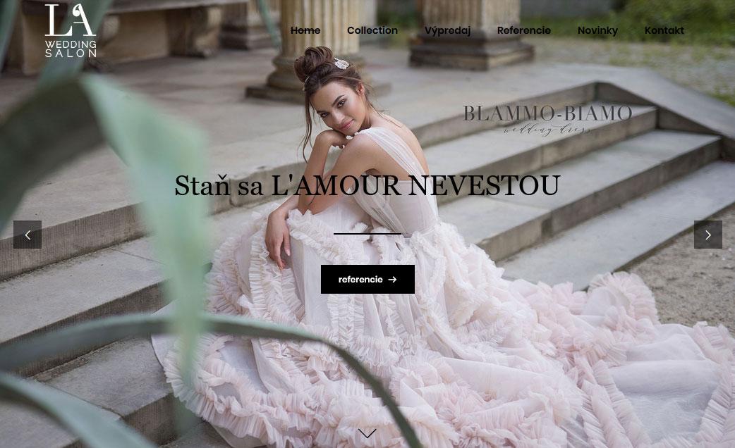 Digitálne a reklamné služby pre salon Lamour